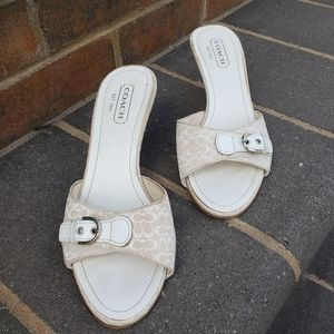 Coach womans slip on sandals, size 7 1/2 b